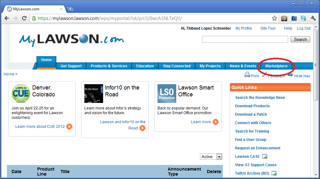 there are plenty of mashups and personalized scripts for lawson smart office available on the lawson software marketplace to access them login to your