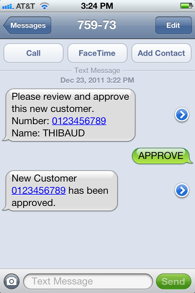 Send Sms From Pfi With Twilio M3 Ideas